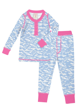 Clouds Kids Long John Pajama Set