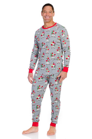X-mas Shopping Mens Thermal Long John PJ Set