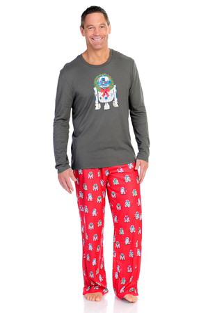 Winter R2-D2 Men's Long Sleeve and Pant PJ Set