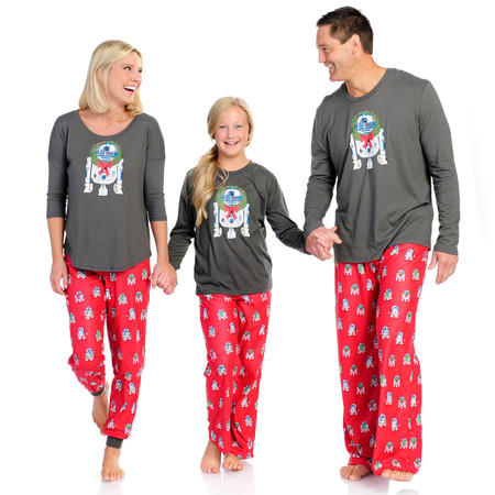 Winter R2-D2 Women's Long Sleeve and Pant PJ Set