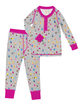 Teeny Mittens Kids Long John Set