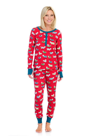 So Sheepy Womens Thermal Long John PJ Set