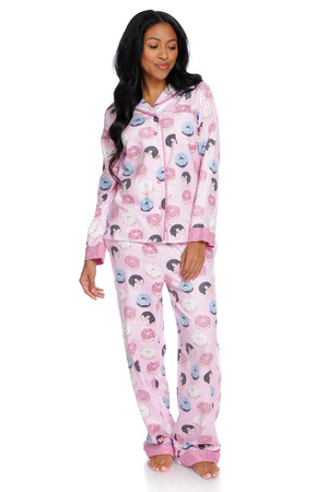 Donuts Women's Flannel Classic Set