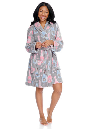 Champagne Women's Coral Fleece Robe
