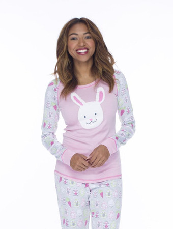 Bunnies Womens Jersey Pant PJ Set
