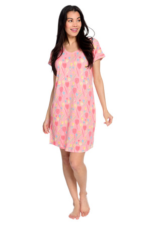 Tulips Women's Jersey Short Sleeve Nightgown
