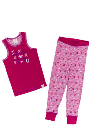 Candy Hearts Kids Rib PJ Set