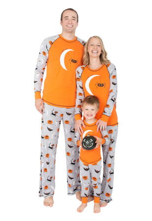 Spooky Sketchy Kids Raglan Long John Pajama Set