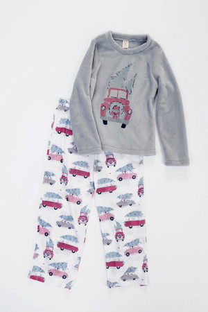 Tree Shopping Kids Plush Top PJ Set