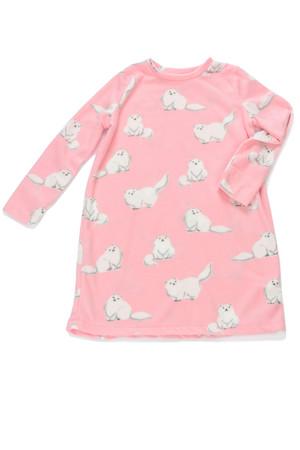 Fluffy Cats Kids Plush Nightshirt