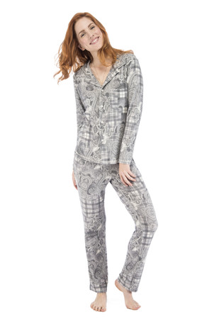 Plaid Paisley PJ Set