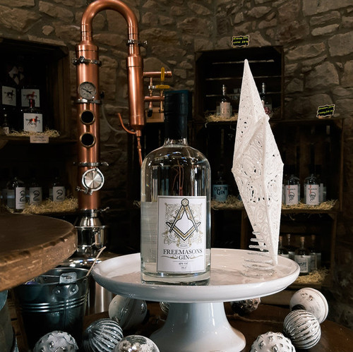 Freemasons Gin on display in distillery