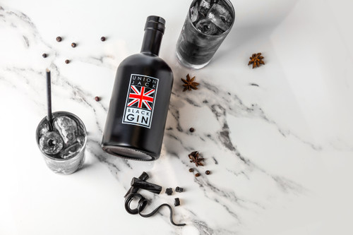 Featured: Union Black Jack Gin served in two glasses with ice