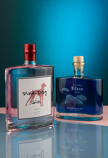 Persian Blue Gin 50cl & Pink Dog Gin 50cl