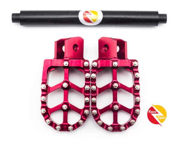 Red Ultimate CNC foot rest and brace bundle - easy to fit - highest quality