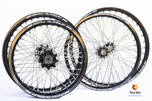 The best Sur-ron wheels available from Race Spec - MX grade race ready fully built wheels to suit Sur-ron available in 16, 18 and 21 inch, sold separately and in sets - Rear wheels built with offset for maximum tyre chain clearance