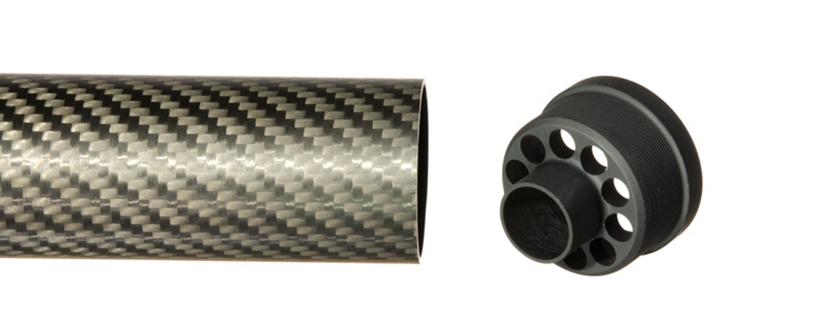 The end cap is used to finish the end of a carbon fiber tube.  it protects the tube end from damage and provides a clean finished appearance.