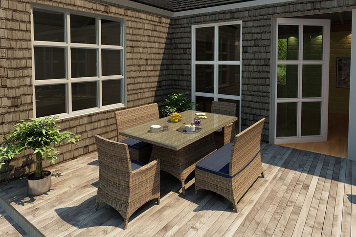 Forever Patio Cypress Collection 5 Piece Wicker Dining Set