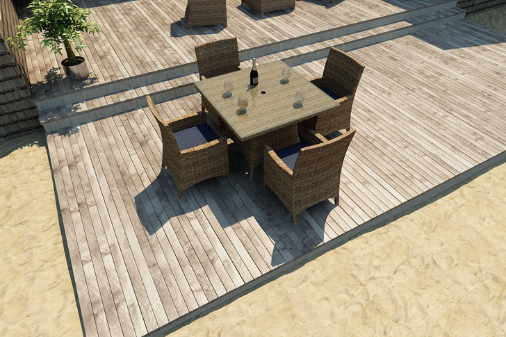 Forever Patio Cypress Collection 5 Piece Square Wicker Dining Set