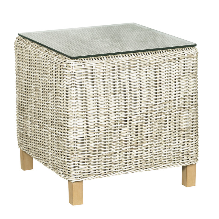 Forever Patio Carlisle Woven End Table Alabaster