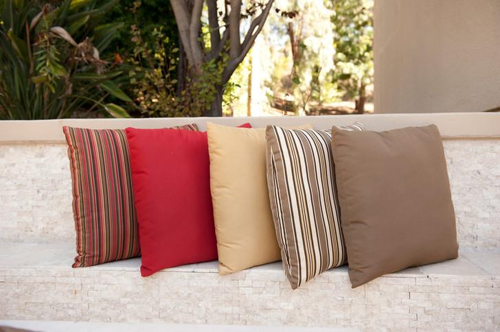 "Forever Patio Sunbrella Outdoor Square Throw Pillow 18"""