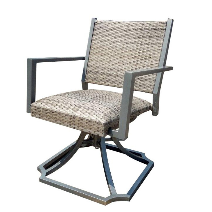 Forever Patio Spirit Padded Wicker Swivel Dining Arm Chair