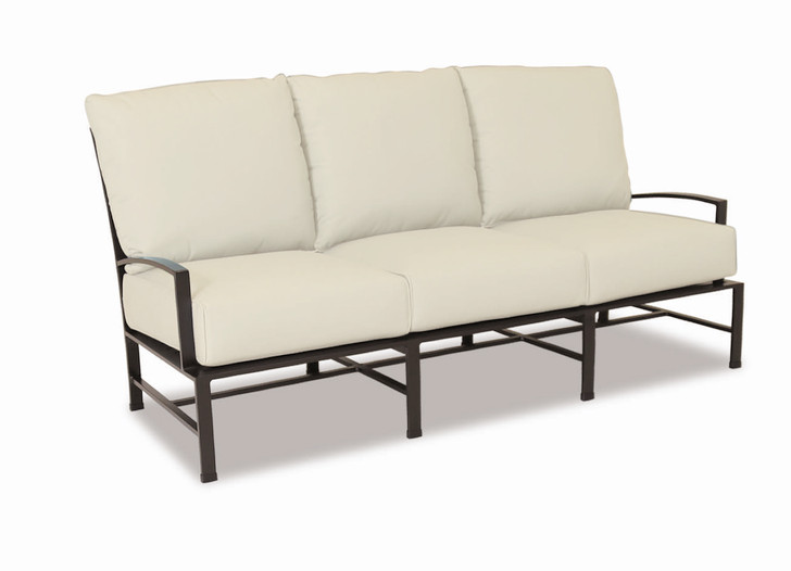La Jolla Sofa with cushions in Canvas Flax with self welt