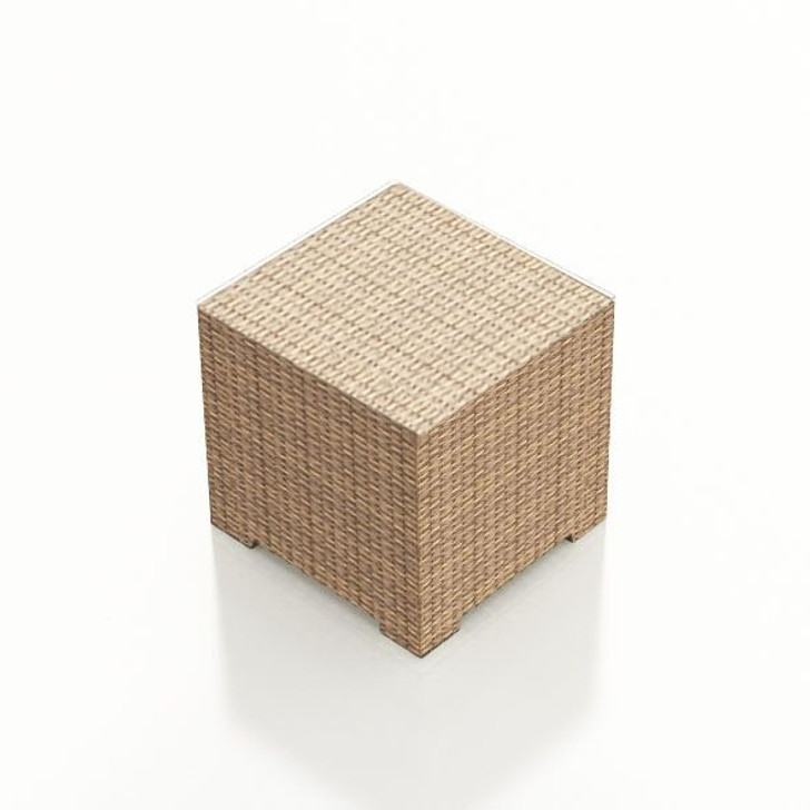 Forever Patio Hampton Wicker End Table Biscuit