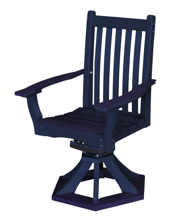 Wildridge Classic Poly-Lumber Swivel Rocker Dining Side Chair With Arms