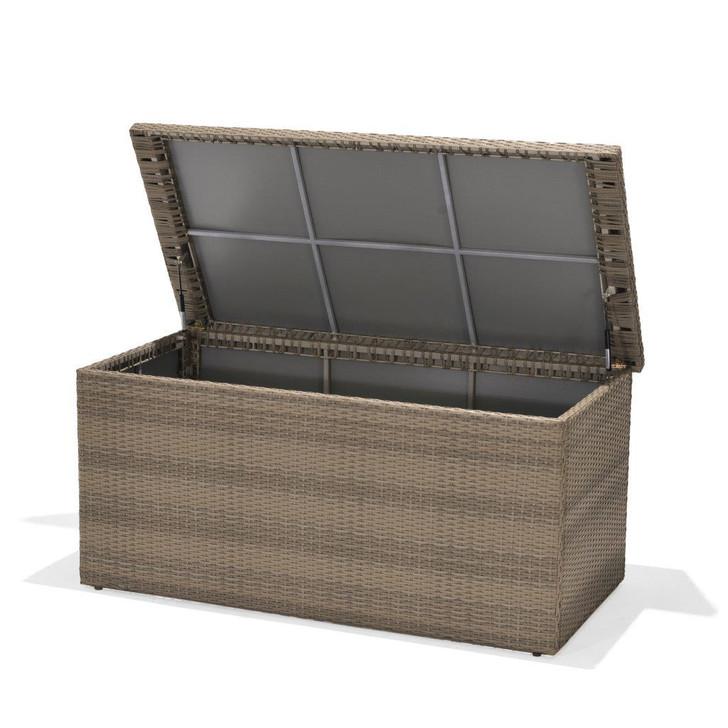 Forever Patio Barbados Wicker Barbados Cushion Storage Box Biscuit