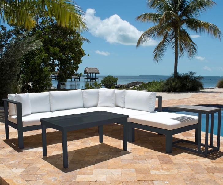 Panama Jack Sandcastle 5 Piece Sectional Set Grey
