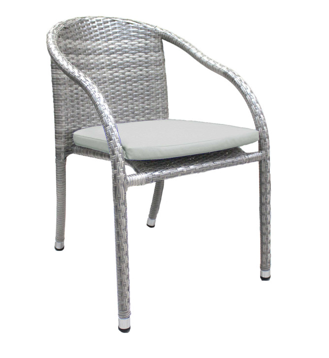Hospitality Rattan Athens Stackable Woven Armchair with Cushion