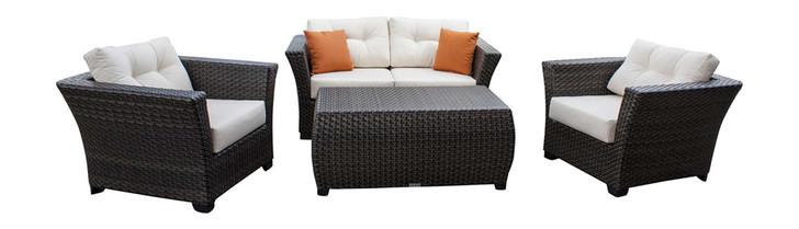 Hospitality Rattan Fiji 4 PC Seating Set with Cushion