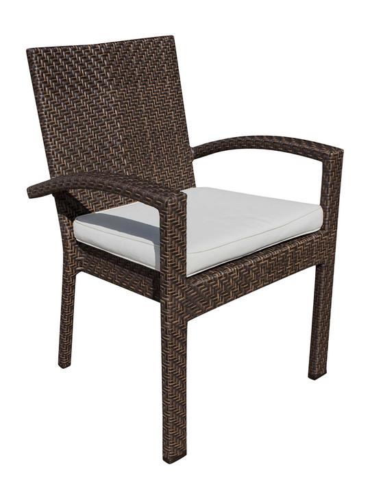Hospitality Rattan Soho Patio Stackable Armchair with Cushion