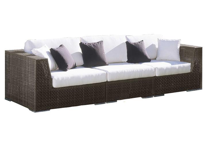 Hospitality Rattan Soho Sofa 3 PC Set Deep Seating Group