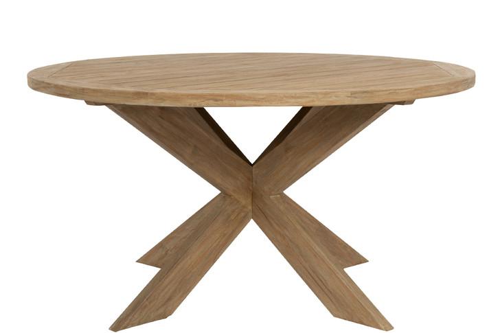 "56"" Round Dining Table in Coastal Teak"