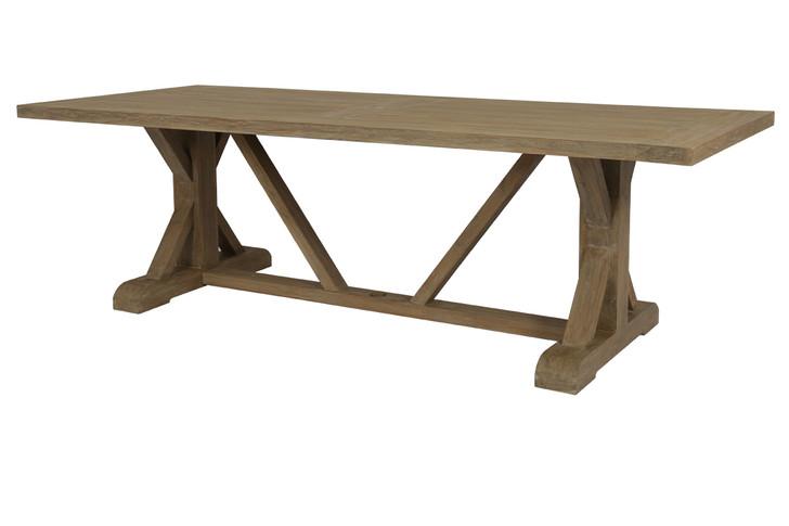 "94"" Trestle Dining Table in Coastal Teak"