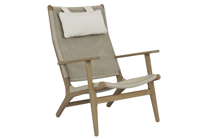 Coastal Teak Cushionless Highback Chair
