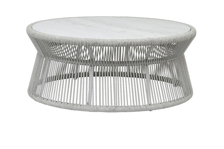Miami Coffee Table with Honed Cararra Marble Top