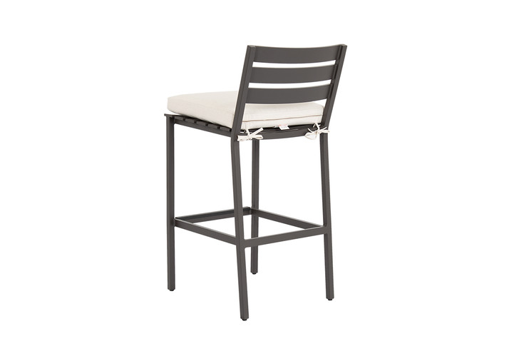 Pietra Barstool with Echo Ash Cushion with ties