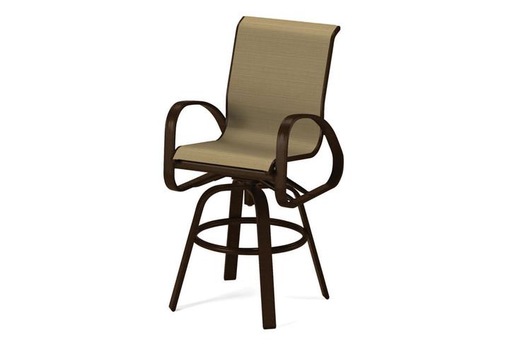 Telescope Casual Primera Sling Bar Height Swivel Arm Chair