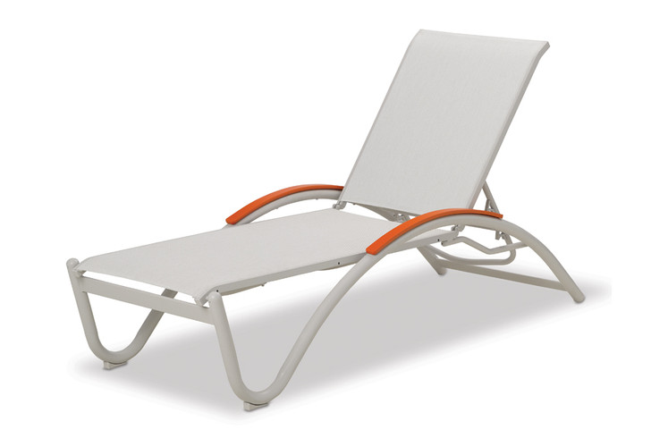 Telescope Casual Helios Sling Four-Position Lay-Flat Stacking Chaise