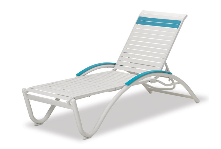 Telescope Casual Helios Strap Four-Position Lay-Flat Stacking Chaise