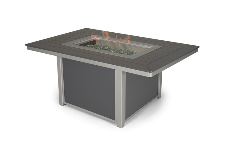 """Telescope Casual 36""""x54"""" Marine Grade Polymer Rectangle Chat Height Fire Table"""