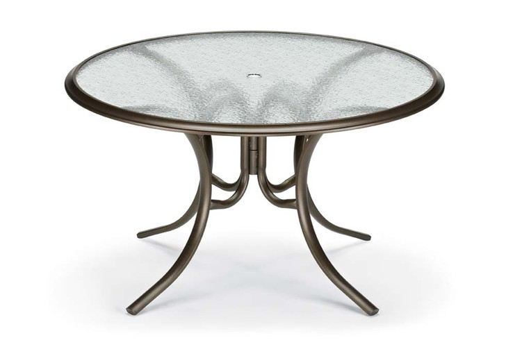 """Dining Height 56"""" Round Glass Table"""
