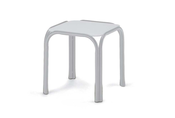 """17"""" Square Marine Grade Polymer Top End Table"""