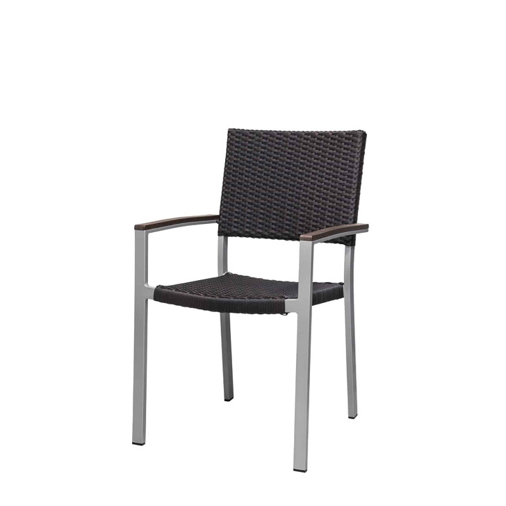 Source Furniture Fiji Dining Arm Chair - Espresso