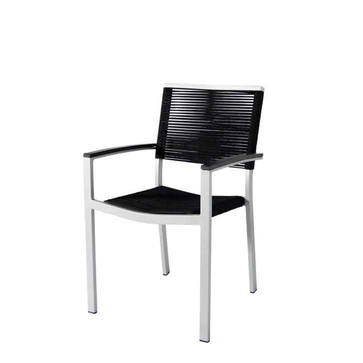 Source Furniture Fiji Rope Dining Arm Chair - Black Durarope
