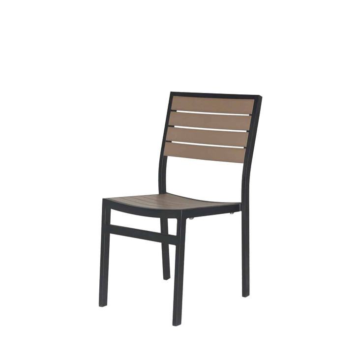 Source Furniture Napa Dining Side Chair - Black Frame & Gray Durawood