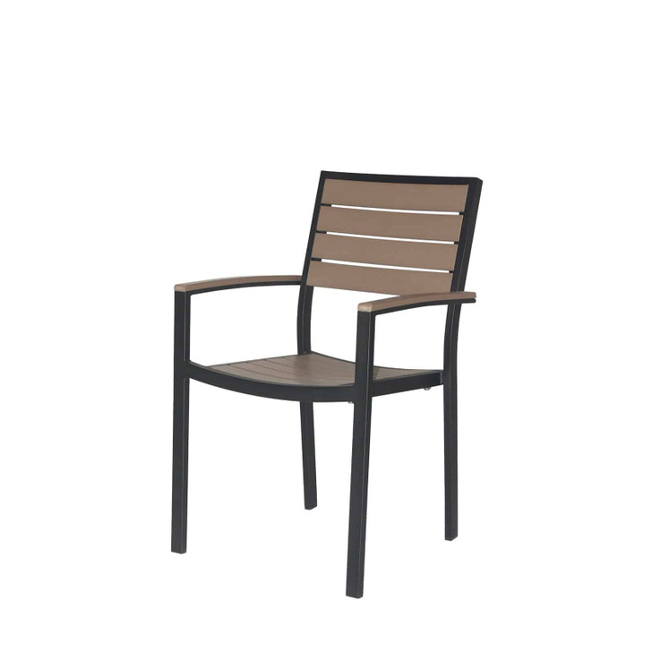 Source Furniture Napa Dining Arm Chair - Black Frame & Gray Durawood